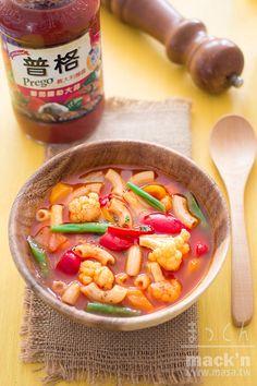 素食食譜,冬天食譜-田舎風季節蔬菜湯通心粉