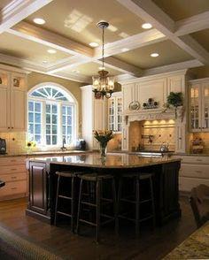 Black and cream kitchen.