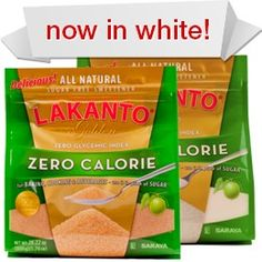 Unlike sugar and the other natural sweeteners, though, Lakanto does not feed the harmful yeast (candida) and bacteria in your body. Lakanto is even safe for diabetics! And Lakanto, the amazing all-natural sweetener, has: Zero calories Zero glycemic index Zero additives No influence on your blood sugar and insulin release A one-to-one ratio with sugar -- so it's easy to measure and use