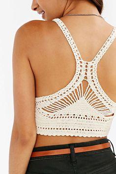 ○●○ Ecote Austin Crochet Bra Top - Urban Outfitters