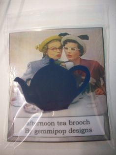 Laser Cut Acrylic Teapot Brooch. £6.00, via Etsy.