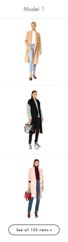 """Model 1"" by chau-bao-ngan ❤ liked on Polyvore featuring outerwear, coats, camel, white trench coats, button coat, trench coats, button trench coat, white coat, coats & jackets and wool coat"