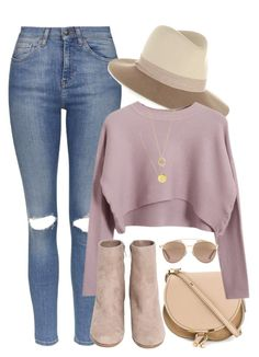 """""""What I'd Wear"""" by monmondefou ❤ liked on Polyvore featuring Topshop, rag & bone, Chloé, Chicnova Fashion, Christian Dior, H&M, John Hardy, Fall and rose"""