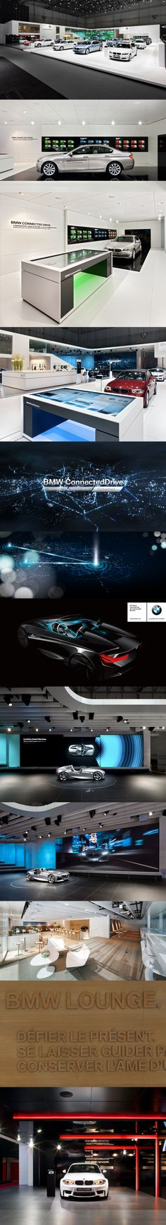 BMW Geneva 2011 | The BMW ConnectedDrive Innovations are the central focus of the entire BMW trade fair stand communications. BMW is presenting the future of intelligent Interaction between the vehicle, its passengers and the vehicle environment. The key was to make complex techology something that the public can experience and appreciate effectively.