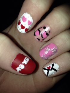 Valentine's Day 2014 - inspired by CutePolish on YouTube