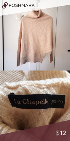 Wool blended turtleneck sweater It is a Chinese brand. Perfect condition. 54.6% chinlon, 45.6% wool. La Chapelle Sweaters Cowl & Turtlenecks