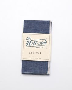 The Hill-Side Selvedge Chambray Pocket Square