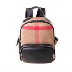 College Style Plaid Striped Canvas Splice Backpack Schoolbag – wikoco#bag #Backpack #school#schoolbackpack