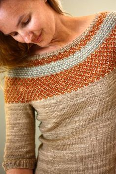 Yukiya Colorwork Yoke Pullover knitting pattern