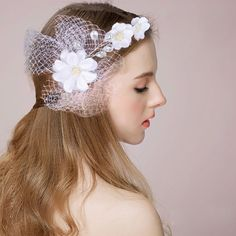 Vintage  Bride Headdress By Hand Bridal Wedding Dress Accessories