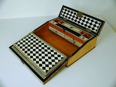 Vizagapatam Portable Writing Box - Baggott Church Street Antiques, Stow-on-the-Wold, Cotswolds