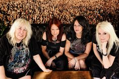 Girlschool are a British heavy metal band originating out of the New Wave of British Heavy Metal scene in 1978 and frequently associated with contemporaries Motörhead. They are the longest running all-female rock band, still active after more than 35 years. Girlschool are considered pioneers for women in music.