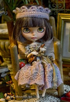 Bohemian Princess. Sugar Mountain Maxi Dress With Crocheted Crown For Blythe…