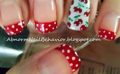 Rockerbilly cherry polka dot