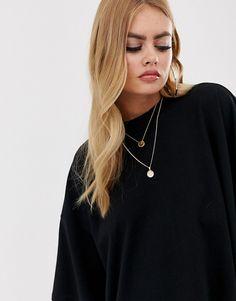 Reception Du Jour T shirt Ultra Long Oversized ASOS et Boucle d'oreille ecarteur or