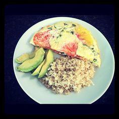 Breakfast for dinner egg white heirloom tomato basil frittata  - @andeelayne- #webstagram