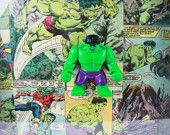 Lego Marvel Avengers Superheros The Hulk Mini Figures Vintage Comic Book Wall Art Display Frame