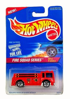 Be the lucky owner of this MOC 1995 Hot Wheels Fire Squad Series #4 Fire Eater #427 Fire Engine ! This awesome classic Fire Engine will look great in your collection! Fire Eater is in. Mint on Card Condition. | eBay!