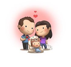 Here you'll find the commission artworks that was drawn for some of the many awesome couples and supporter of HJ-Story! Check out more commissions at the commission page! Cute Couple Cartoon, Cute Love Cartoons, Cute Cartoon, Chibi Couple, Hj Story, Cute Love Stories, Love Story, Love Is, True Love