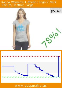 Kappa Women's Authentic Logo V-Neck T-Shirt, Heather, Large (Apparel). Drop 78%! Current price $5.47, the previous price was $25.00. http://www.adquisitio.us/kappa/womens-authentic-logo-v-10