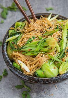 15 minute sesame ginger noodles - Choosingchia