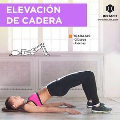 Elevación de cadera. Tonifica y fortalece tus glúteos, muslos y piernas.