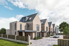 Works starts on GA Studio's Altrincham mews houses Social Housing Architecture, Brick Architecture, Urban Architecture, Residential Architecture, Habitat Groupé, Mews House, Townhouse Designs, Suburban House, Small Buildings