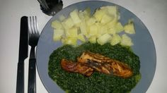 Zalm met spinazie