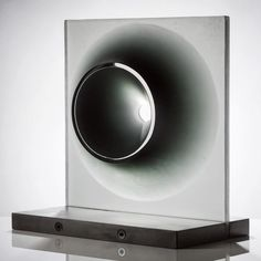 """""""Richard Whiteley's """"Cone Space"""", 2011; cast glass and metal; 22"""" x 19.5"""" x 12.875"""" 