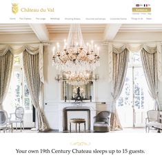 Elegant Website design for Chateau du Val, Brittany by Elastic Studio Lodge Wedding, Brand Design, Wedding Shoot, Corporate Events, Brittany, Ceiling Lights, Website, Studio, Elegant