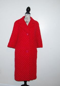 Vintage Coat Lipstick Pink with Red Jablow by CheekyVintageCloset, $64.00