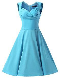 Dresstells 1950s Retro Rockabilly Polka Dots Dress Cocktail Dress Pleated Skirt: Amazon.co.uk: Clothing