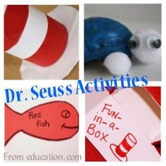 Hundreds of Dr. Seuss ideas, snacks and crafts