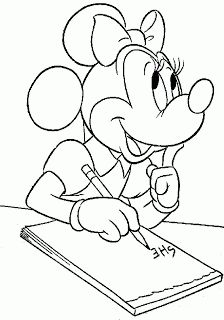 Disney Cartoon Minnie Mouse Coloring Pages