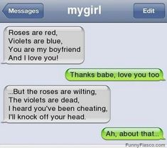 I heard youve been cheating Texts couple messaging lol very funny text humor pic