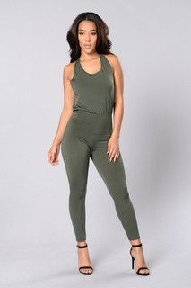 Power Player Jumpsuit- Olive