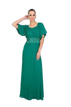 Vestido longo em seda pura com mangas. Indicado para disfarçar as gordurinhas indesejáveis. Cod. 101181   #zumzum #zumzumfesta #vestido #festa #vestidodefesta #dress #partydress
