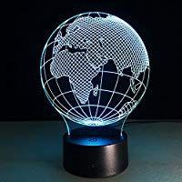 Optical Illusion 3d Lamp 7 Colour Changing Earth 16 Eur Led Lampen 3 D