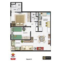 Fórmula Residencial Brotas Plus: Planta Opção B. Procurando apartamento novo em brotas? A Consil, especializada em venda de apartamento em Salvador, tem o melhor apartamento em brotas para você.