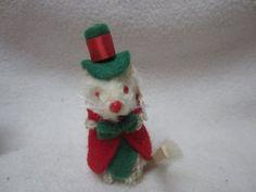"Vintage Original Fur Toys Germany Miniature Christmas Boy Mouse 2"" | eBay"
