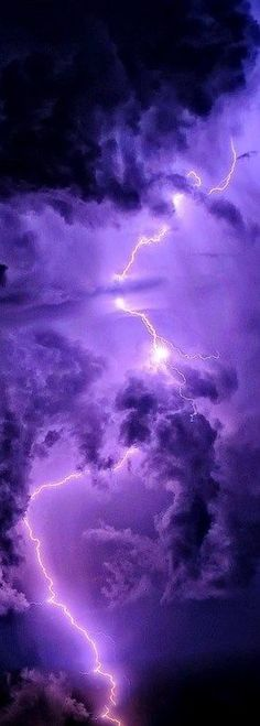 Purple sky with lightning #storms