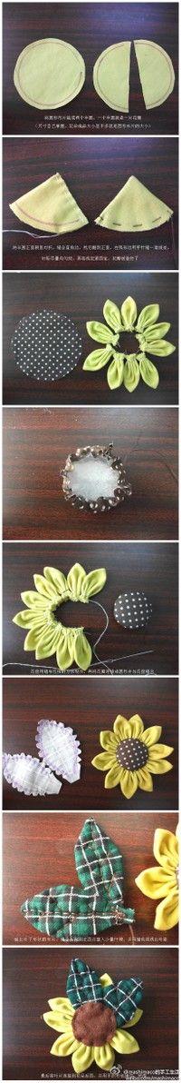DIY: fabric flower....(great tutorial!)....