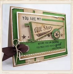 green All Star...this is one stamp set that I have used a lot...fun to see others creativity with it..