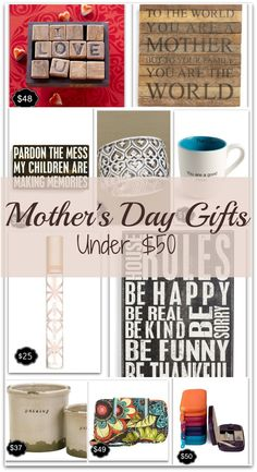 10 great Mother's Day gifts under $50!!