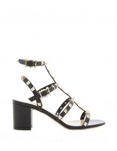 Valentino Black Rockstud Sandal