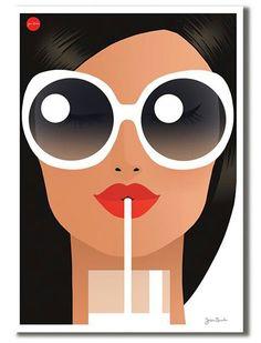 Summer Sunglasses, White - Women's style: Patterns of sustainability Jason Brooks, Poster Photo, Art Watercolor, Plakat Design, Buch Design, Illustration Mode, Arte Pop, Art Graphique, Grafik Design