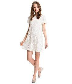 7041a4030ba CeCe by Cynthia Steffe Kayte Floral-Lace Shift Dress