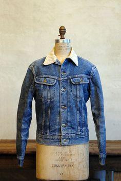 // 1960s Lee Denim Jacket / Vintage Storm Rider / Flannel Lined