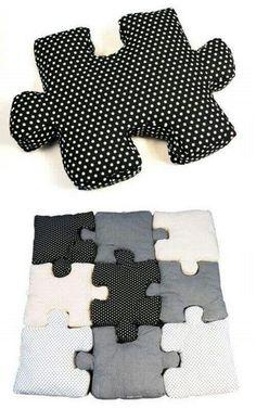 Idée couture tapis puzzle... ...
