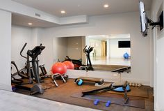 Gym Photos Multifunctional Room Design Ideas, Pictures, Remodel, and Decor - page 8 Using half a room/ multifunctional room